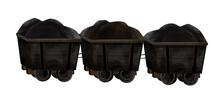 Three 19th-century Coal Mining Wagons (minecarts)