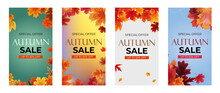 Autumn Sale With Falling Leaves Story Post Social Network