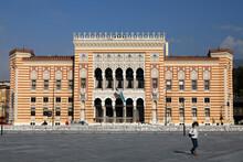 Rebuilt City Hall And National Library, Sarajevo, Bosnia And Herzegovina