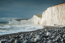 Birling Gap And The Seven Sisters Chalk Cliffs, East Sussex, South Downs National Park, England