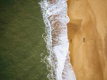 Aerial View Of Hossegor Beach, Les Landes, Nouvelle-Aquitaine, France