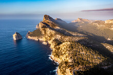 Aerial Of The Cap De Formentor, Mallorca, Balearic Islands, Spain