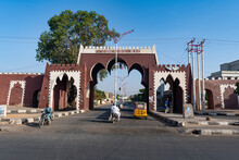 Restored Gate In The Old Town Of Kano, Kano State, Nigeria, West Africa, Africa