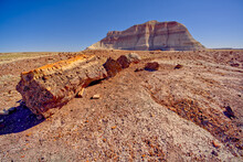 A Bentonite Formation In Petrified Forest National Park Near Crystal Forest Called The Battleship, Arizona