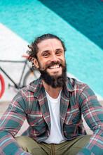 Smiley Bearded Man Portrait