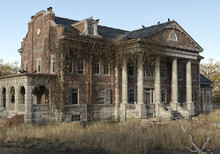 Abandoned Ancient Mansion 3d Render
