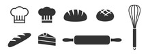 Bread Bun Loaf And Other Different Bakery Icons