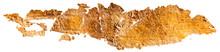 Gold Smear Of Paint. Gold Hot Foil, Gold Leaf