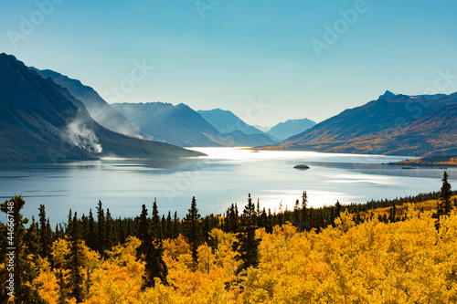 Fotografia Windy Arm of Tagish Lake after Wildfire YT Canada