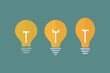 light bulb icon on a white background, vector illustration