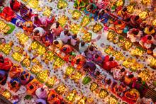 View Of People Celebrating Rakher Festival Before The Fasting Break Eating Lot Of Things, Narayanganj, Bangladesh.