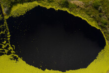 Aerial View Of A Small Lake At Fort Drum Wildlife Management Area, Vero Beach, Florida, United States.