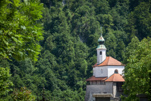 Chapel Of Saint Eligius, Or Kapela Svetega Eligija, In The Little Castle, Or Mali Grad, Of Kamnik. It Is A Roman Catholic Church In The Oldest Castle Of The City Of Kamnik, In Carniola Region. ..