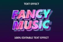 Fancy Music Editable Text Effect Rainbow