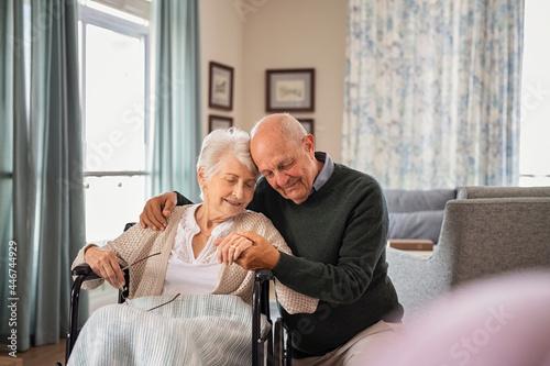 Fotografie, Obraz Senior lovely couple embracing