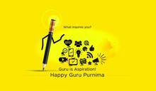 Happy Guru Purnima Concept Idea Creative For Advertising Marketing And Creative Agencies