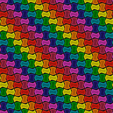 Rainbow Paving Stone. Vector Seamless Stones Pattern. Repeated Pattern Wallpaper.