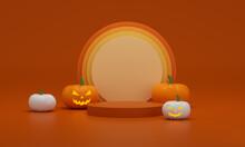 Halloween Pumpkin In A Pot