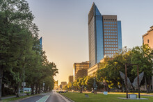Buildings On The Capitol Mall In Sacramento - California, United States