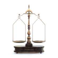 Ornate Scales Of Justice