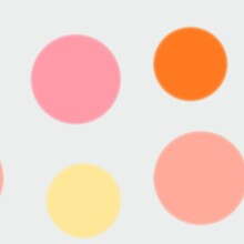 Seamless Pattern Of Yellow, Orange And Pink Circles On A Light Background For Textiles.