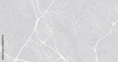 Foto Urban vector city map of Sollentuna, Sweden, Europe