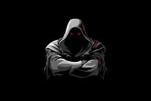 Grim Reaper Cartoon Charactercolor Vector Logo