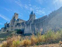 View Of The Castle Of Carcassonne In France . High Quality Photo