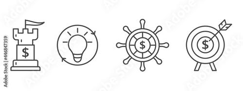 Foto Business strategy symbol set