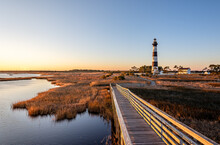 Bodie Island Lighthouse Is Located At The Northern End Of Cape Hatteras National Seashore, North Carolina , USA.