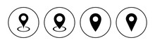 Pin Icon Set. Location Icon Vector. Destination Icon. Map Pin