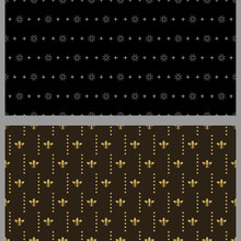 Holiday Background Patterns With Decorative Elements. Set. Suitable For Book Covers, Posters, Wallpapers, Invitations, Postcards. Seamless Pattern, Texture. Used Colors: Black, Gray, Gold.