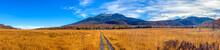 尾瀬ヶ原湿原の紅葉の風景 燧ヶ岳 至仏山 Scenery Of Autumn Leaves In Ozegahara Marshland Mt.Hiuchigadake Mt.Shibutsusan