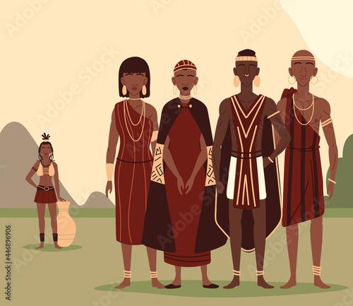 Photo aboriginal people together