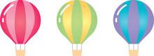 3色の気球