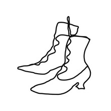 Witches Boots. Shoes For Witch