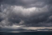 Dramatic Sky Over The Adriatic Sea Close To Dubrovnik