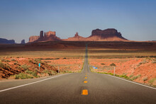 Roadside Landscapes And Views Near Monument Valley, Arizona.