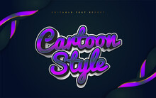 Colorful Cartoon Text Style With 3D Effect Editable Text Style Effect