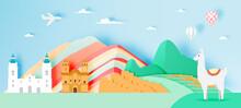 Peru Travel With Machu Picchu Background
