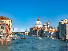 Scenic View  To Grand Canal In Venice, Italy