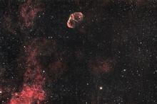 NGC 6888, Crescent Nebula In A Dark Sky