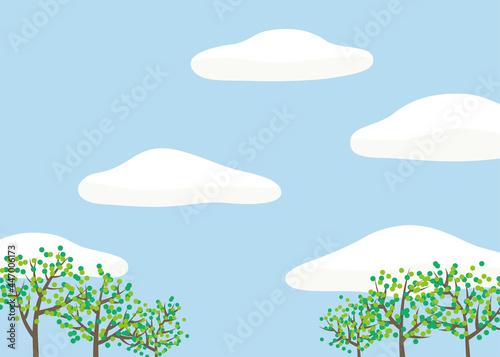 Cuadros en Lienzo 穏やかな空の背景
