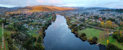 Fotografering New Norfolk and Derwent River Tasmania