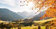 Spectacular Autumn Mountain View, Dolomites Italy