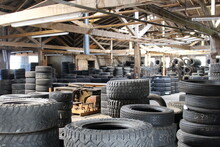 Tires In Old Mill Filtered Light Industrial