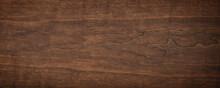 Dark Wood Texture. Brown Walnut Texture, Natural Background