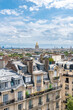 Paris, aerial view of the city, with the Invalides dome in background