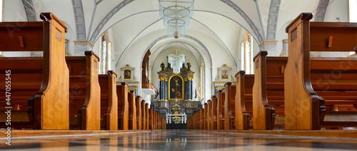 Fotografering Innenansicht katholische Pfarrkirche St. Andreas in Gossau SG