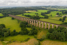The Crimple Valley Railway Viaduct In North Yorkshire, UK